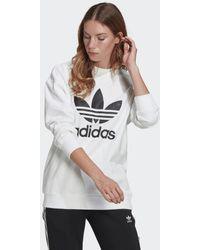 adidas Felpa Trefoil Crew - Bianco
