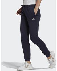 adidas Essentials Fleece Logo Broek - Blauw