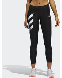 adidas Own The Run 3-stripes Fast Leggings - Black