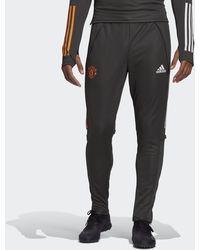 adidas Manchester United Training Tracksuit Bottoms - Grey