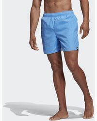 adidas Solid Badeshorts - Blau