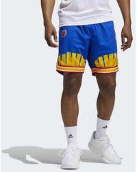 adidas Eric Emanuel Mcdonald's Reverse Retro Shorts - Blue