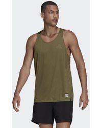 adidas Camiseta sin mangas Made To Be Remade Running - Verde