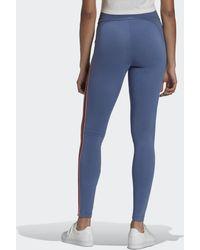 adidas Adicolor Sliced Trefoil High-waisted Legging - Blauw