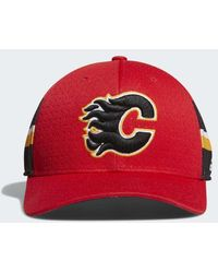 860501ba0 Lyst - Adidas Capitals Structured Flex Draft Hat in Red for Men