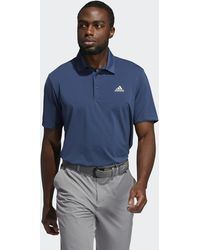 adidas Ultimate365 Solid Left Chest Polo Shirt - Blue
