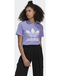 adidas Adicolor Classics Trefoil T-shirt - Paars