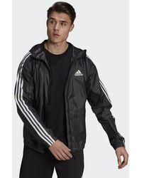 adidas Bsc 3-stripes Wind Jacket - Black