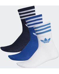 adidas Mid-cut Sokken 3 Paar - Blauw