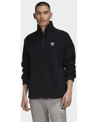 adidas Adicolor Polar Fleece Half-Zip Sweatshirt - Schwarz