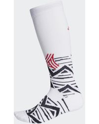adidas Alphaskin Graphic Cushioned Sokken - Wit