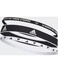 adidas Training Haarbänder, 3er-Pack - Schwarz