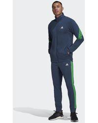 adidas Sportswear Katoenen Trainingspak - Blauw