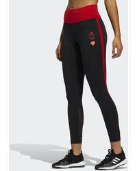 adidas Own The Run Valentine 7/8-Tight - Schwarz