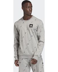 adidas Sudadera cuello redondo Must Haves Graphic - Gris