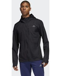 adidas Giacca a vento Own the Run Hooded - Nero
