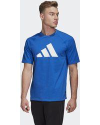 adidas T-shirt Athletics Pack Heavy - Blu