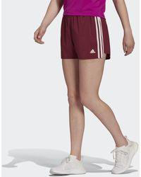 adidas Primeblue Designed 2 Move Geweven 3-stripes Sportshort - Rood