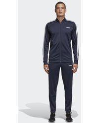 adidas 3-Streifen Trainingsanzug - Blau