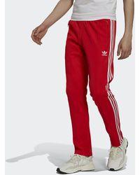 adidas Track pants adicolor Classics Beckenbauer Primeblue - Rosso