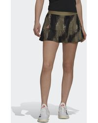 adidas Tennis Primeblue Printed Match Skirt - Green