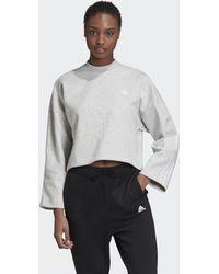 adidas 3-stripes Doubleknit Sweatshirt - Grijs