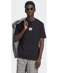 adidas T-shirt LOUNGEWEAR adicolor 3D Trefoil - Nero