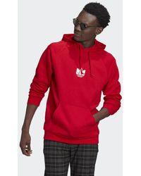 adidas Loungewear Adicolor 3d Trefoil Graphic Hoodie - Rood