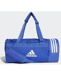 adidas Convertible 3-stripes Duffel Bag Small - Blue