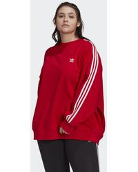 adidas Loungewear Adicolor Classics Oversize Sweatshirt (grote Maat) - Rood