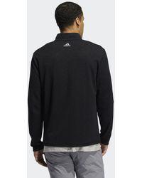 adidas 3-Streifen Quarter-Zip Pullover - Schwarz