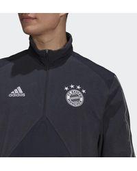 adidas Fc Bayern München Travel Fleece Jack - Grijs