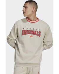 adidas Script Crew Sweatshirt - Natural