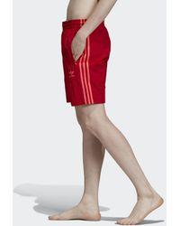 adidas Short da nuoto 3-Stripes - Rosso