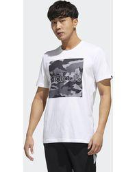 adidas Camiseta Camouflage Box - Blanco