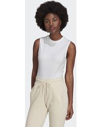 adidas Adicolor Single Jersey Bodysuit - White