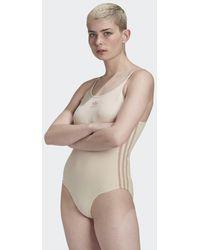 adidas Ribbed Bodysuit - Naturel