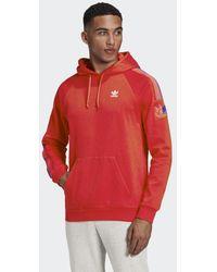 adidas Adicolor 3d Trefoil 3-stripes Hoodie - Rood