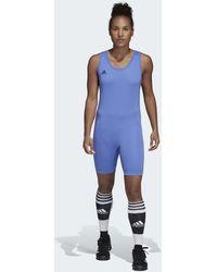 adidas Powerlift Gewichtheber-Anzug - Blau