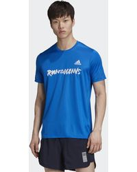 adidas T-shirt 25/7 Rise Up N Run Parley - Blu
