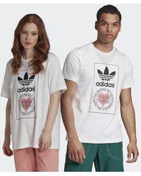 adidas Valentine's Day T-Shirt - Weiß