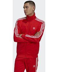 adidas Adicolor Classics Beckenbauer Primeblue Trainingsjack - Rood