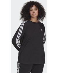 adidas T-shirt Adicolor Classics Long Sleeve (Grandes tailles) - Noir