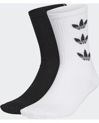 adidas Trefoil Cuff Sokken 2 Paar - Zwart