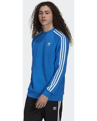 adidas - Adicolor Classics 3-stripes Crew Sweatshirt - Lyst