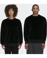 adidas Y-3 Square Velvet Spacer Crew Sweatshirt - Black