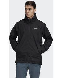 adidas Veste Terrex 3-Layer Waterproof GORE-TEX Rain - Noir