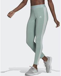 adidas Loungewear Essentials 3-stripes Legging - Groen