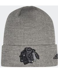 adidas - Blackhawks Team Cuffed Beanie - Lyst