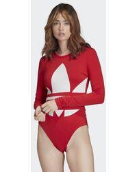 adidas Large Logo Bodysuit - Red